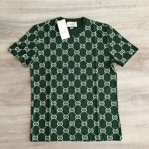"Gucci Men Monogram Green T-Shirt ""XL"""